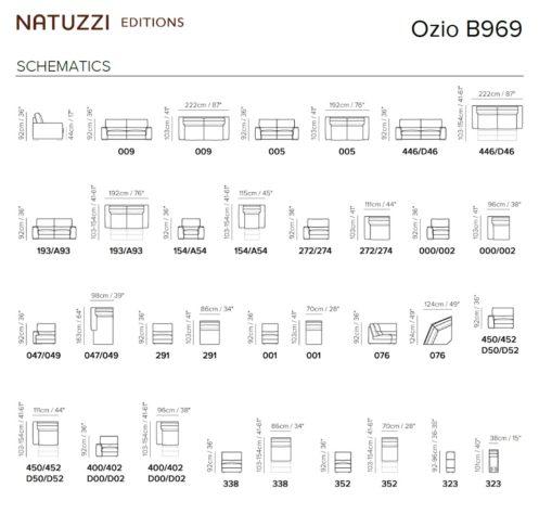 Диван Ozio B969 с электрореклайнерами фото 2