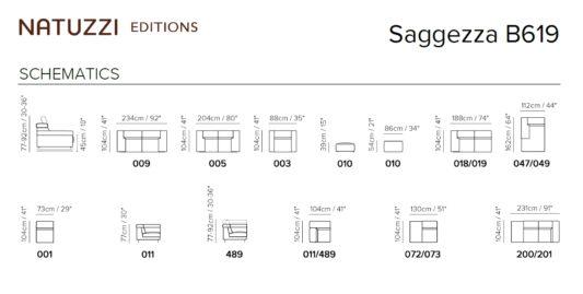 Угловой диван Saggezza B619 фото 2