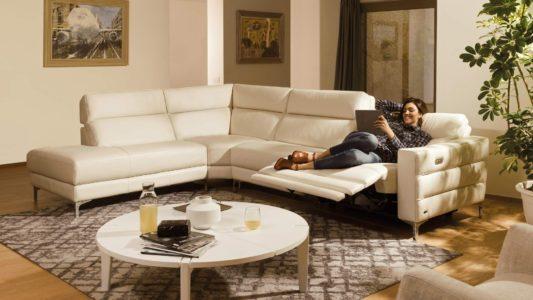 Угловой диван с реклайнером Stima B940 фото 1