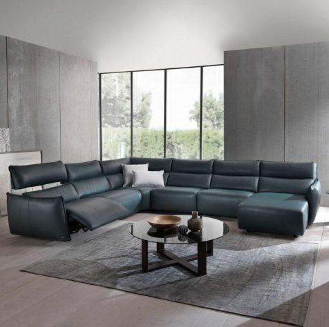 Угловой диван Stupore C027 c электрореклайнером фото 2