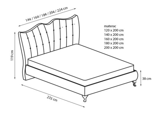 Кровать Princessa 160*200 фото 1