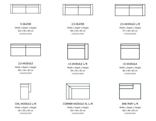 Модульный диван Noir Wooden Frame фото 9
