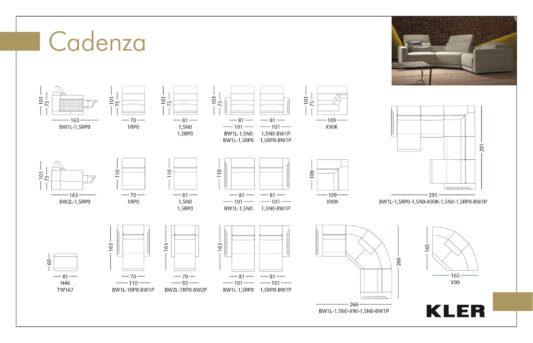Модульный диван с реклайнерами Cadenza W167 фото 2