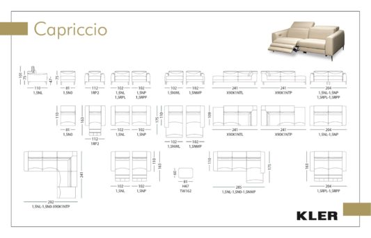 Модульный диван Capriccio W162 фото 1