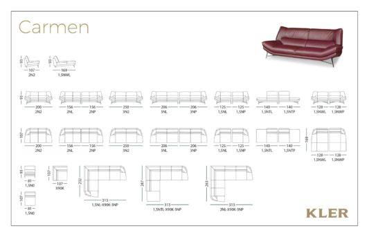 Модульный диван Carmen W175 фото 1