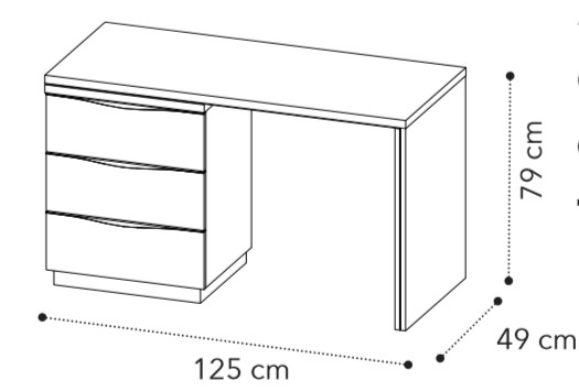 Туалетный столик ONDA White с комодом-кассетницей фото 2