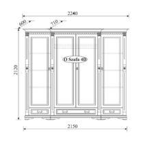 Шкаф 4-дверный Orfeusz O-4D