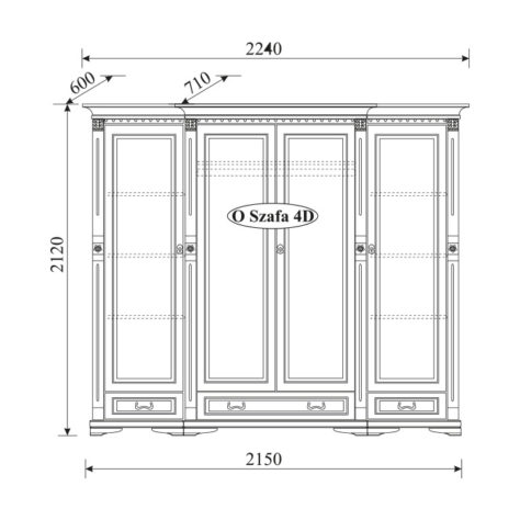 Шкаф 2-дверный Orfeusz O-2D фото 4