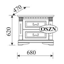 Прикроватная тумба Orfeusz 2 ящика O-SZN
