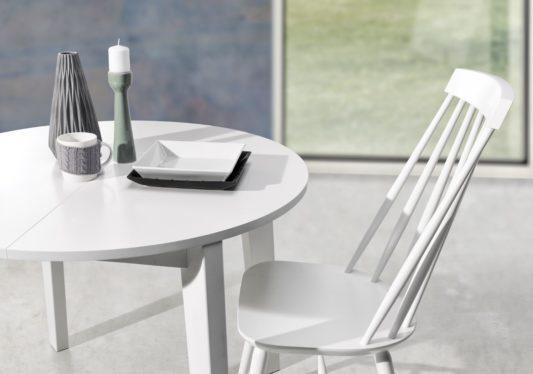Раскладной стол Scandi Ø95 фото 4