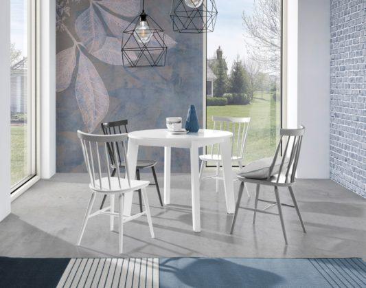 Раскладной стол Scandi Ø95 фото 5