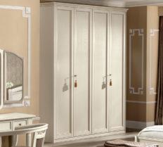 Шкаф 4-дверный Nostalgia Bianco Antico