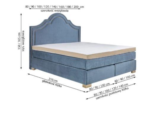 Континентальная кровать 900 фото 3