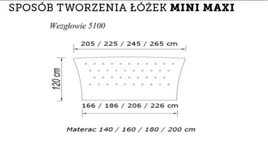 Кровать системы Mini Maxi 5100 140*200 с подъемным механизмом фото 2