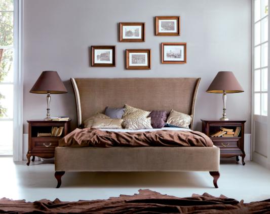 Кровать Classic с прикроватными тумбами Wersal фото 1