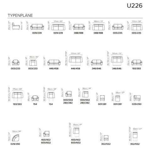 Модульный диван U226 фото 2