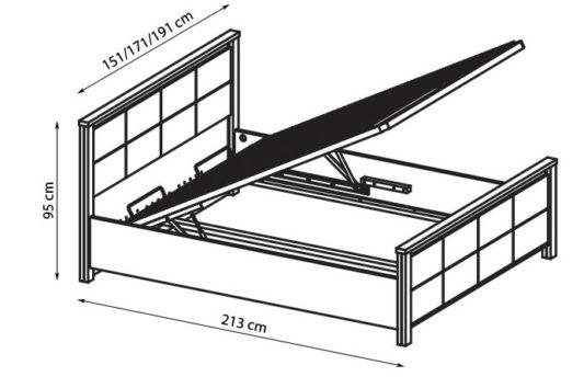 Кровать Wien с подъемным механизмом фото 1