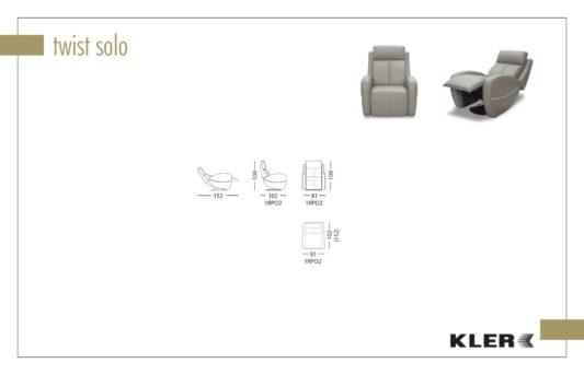 Кресло Twist Solo W123 фото 2