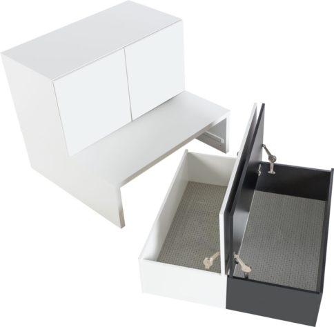 Комод Young Users низкий с выкатными ящиками для хранения фото 4