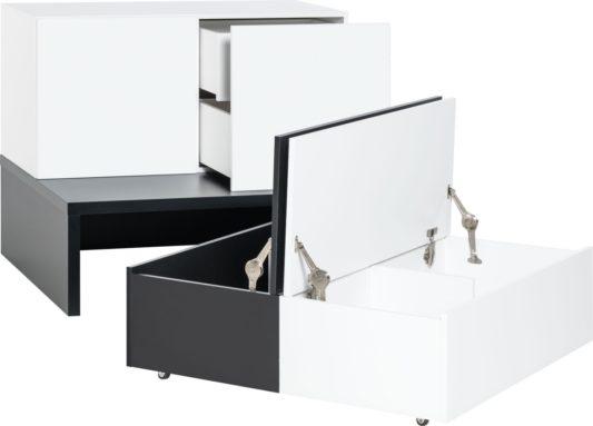 Комод Young Users низкий с выкатными ящиками для хранения фото 5