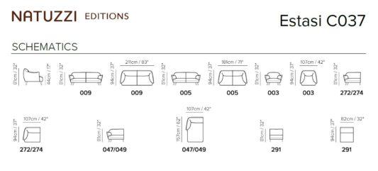 Угловой диван Estasi C037 фото 4