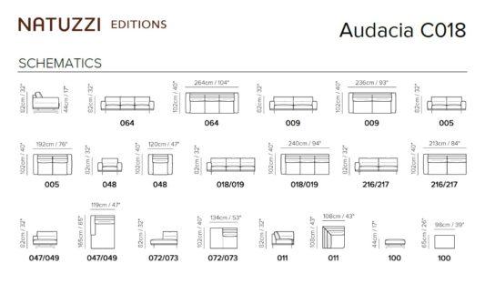 Диван угловой Audacia C018 фото 5