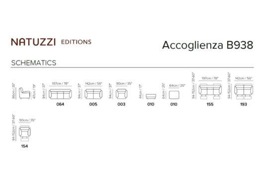 Диван Accoglienza B938 с электрореклайнерами фото 3
