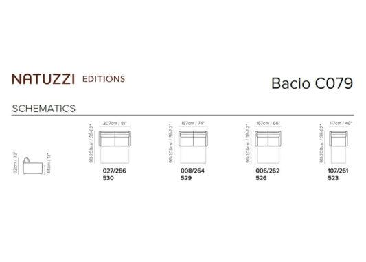 Диван раскладной Bacio C079 фото 4