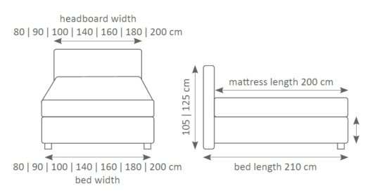 Континентальная кровать 100 фото 2