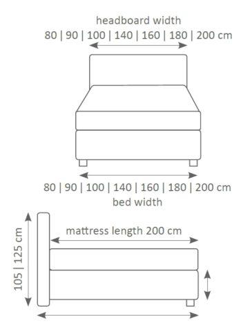 Континентальная кровать 202 фото 2