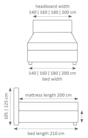 Континентальная кровать 606 фото 3