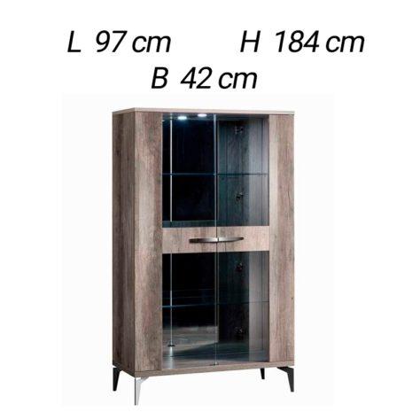 2-дверная витрина Matera фото 3