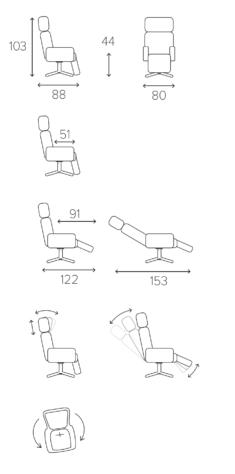 Кресло Timeout вращающееся с опорой для ног фото 8