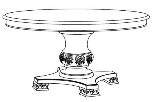 Стол круглый раскладной Gran Guardia фото 5
