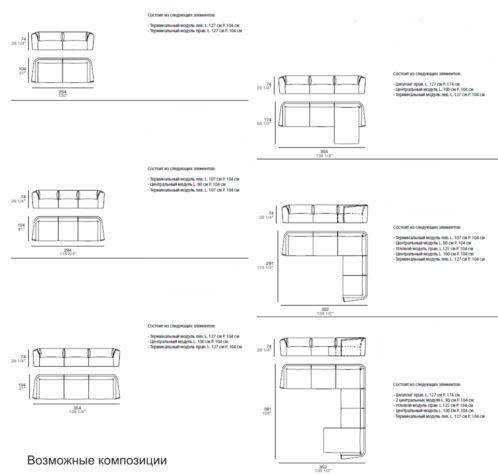 Модульный диван Ladigue фото 12