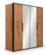 Шкаф 4-дверный с зеркалом Loft
