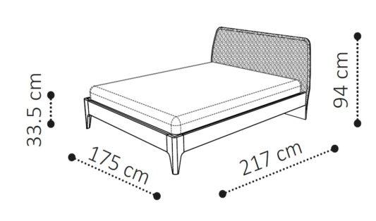 Кровать TEKNO SATURNO фото 2