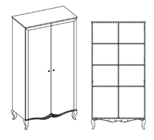 Шкаф 2-дверный Bukket фото 4