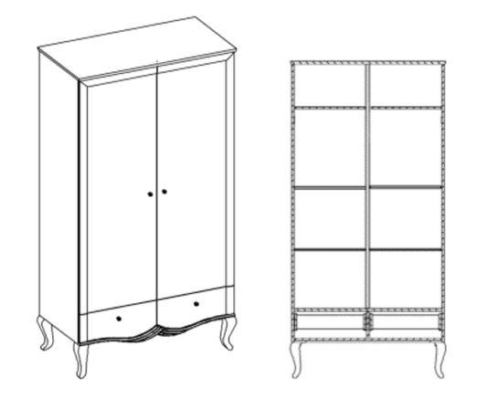 Шкаф 2-дверный Bukket фото 5