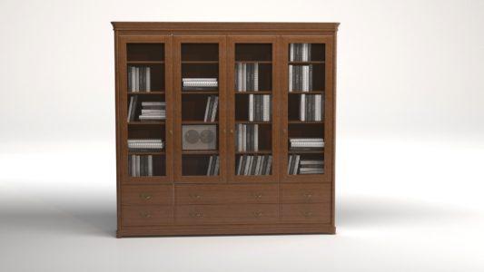 Книжный шкаф 3-дверный Riviera фото 10