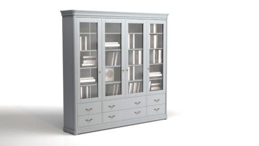 Книжный шкаф 3-дверный Riviera фото 9