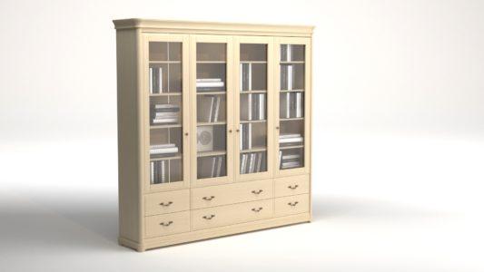 Книжный шкаф 3-дверный Riviera фото 8