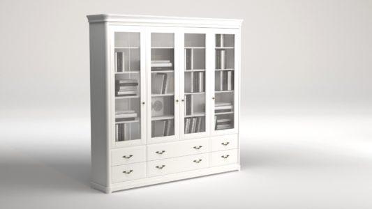 Книжный шкаф 3-дверный Riviera фото 7