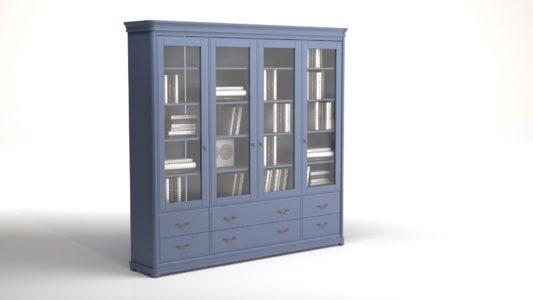 Книжный шкаф 3-дверный Riviera фото 6