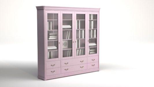 Книжный шкаф 3-дверный Riviera фото 5