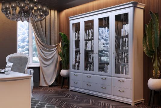 Книжный шкаф 3-дверный Riviera фото 4