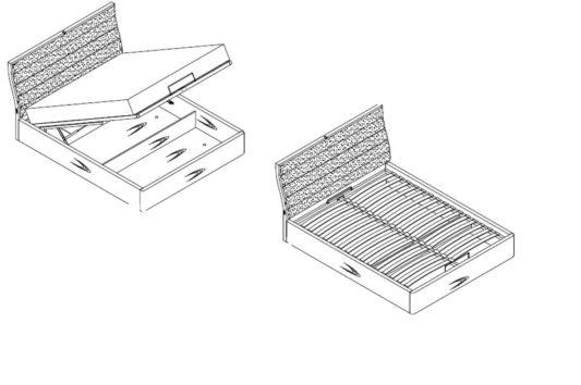 Кровать Ronda с подъёмным механизмом фото 1