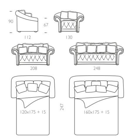Раскладной диван Lilia фото 11