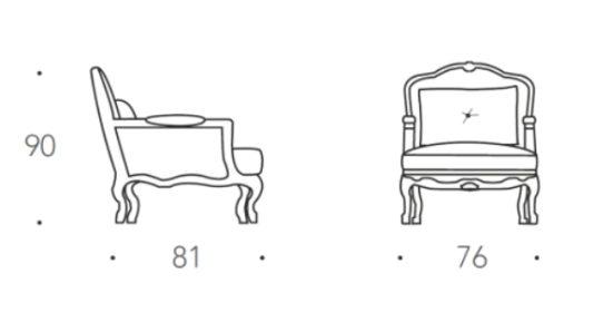 Кресло Luigi фото 2