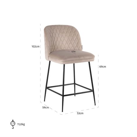 Полубарный стул Pullitzer фото 1
